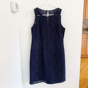 JCrew navy lace dress